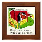 Horse People Framed Tile