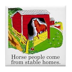 Horse People Tile Coaster