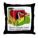 Horse People Throw Pillow