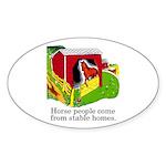 Horse People Oval Sticker