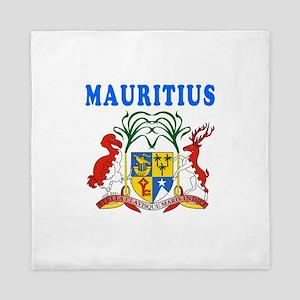 Mauritius Coat Of Arms Designs Queen Duvet