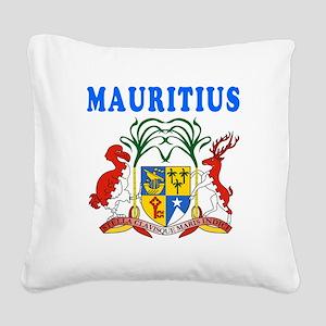 Mauritius Coat Of Arms Designs Square Canvas Pillo