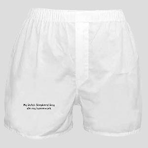 Dutch Shepherd Dog ate my hom Boxer Shorts