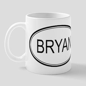 Bryan Oval Design Mug