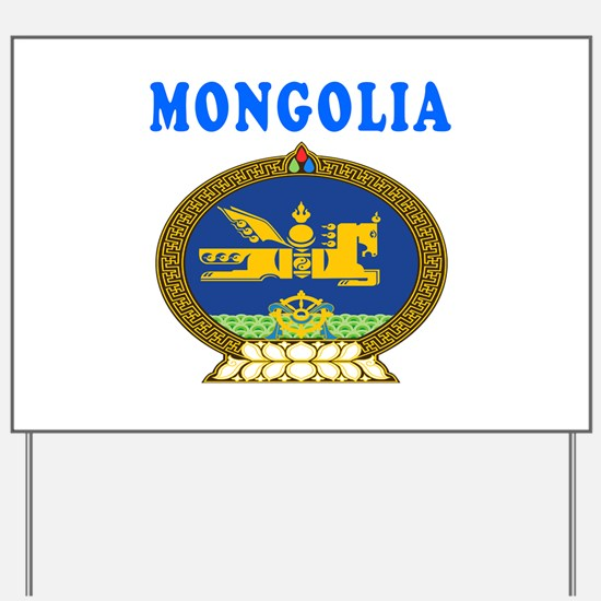 Mongolia Coat Of Arms Designs Yard Sign