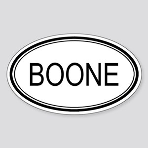 Boone Oval Design Oval Sticker
