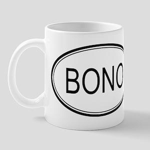 Bono Oval Design Mug
