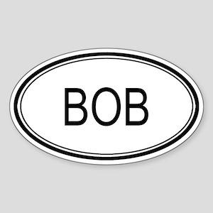 Bob Oval Design Oval Sticker