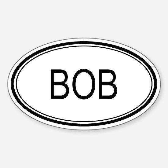 Bob Oval Design Oval Decal
