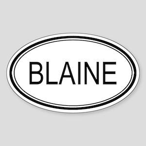 Blaine Oval Design Oval Sticker