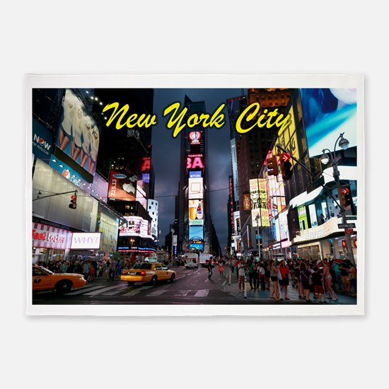 Times Square New York City 5'x7'Area Rug