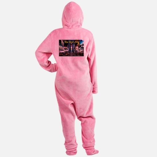 Times Square New York City Footed Pajamas