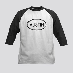 Austin Oval Design Kids Baseball Jersey