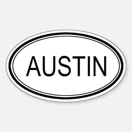 Austin Oval Design Oval Decal