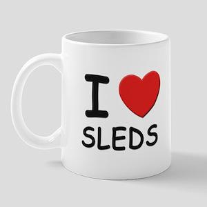 I love sleds Mug