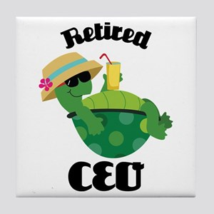 Retired CEO Tile Coaster