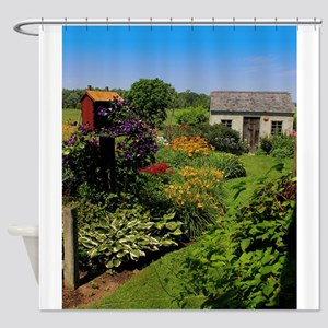 Garden Shed View Shower Curtain