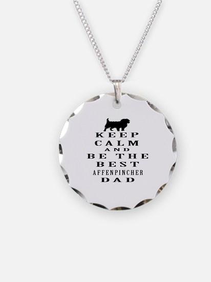 Keep Calm Affenpinsher Designs Necklace
