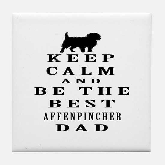 Keep Calm Affenpinsher Designs Tile Coaster