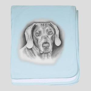 Weimaraner Dog baby blanket