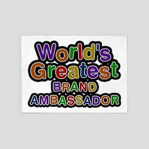 World's Greatest BRAND AMBASSADOR 5'x7' Area Rug