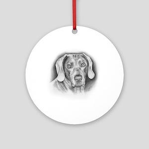 Weimaraner Dog Round Ornament