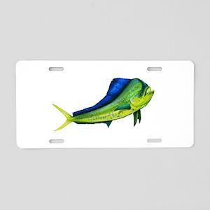 Bull Mahi Aluminum License Plate