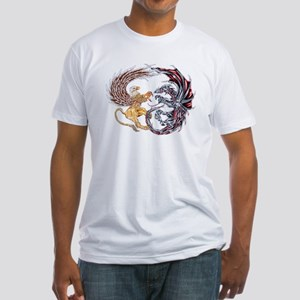 Griffin Fighting Dragon Fitted T-Shirt