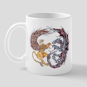 Griffin Fighting Dragon Mug