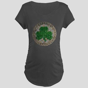 Shamrock And Celtic Knots Maternity T-Shirt