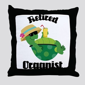 Retired Organist Throw Pillow