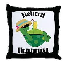 Retired Organist Throw Pillow