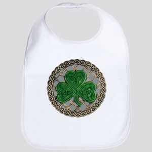 Shamrock And Celtic Knots Bib