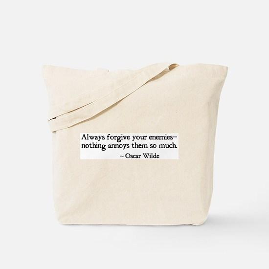 Forgive Your Enemies Tote Bag