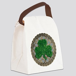 Shamrock And Celtic Knots Canvas Lunch Bag
