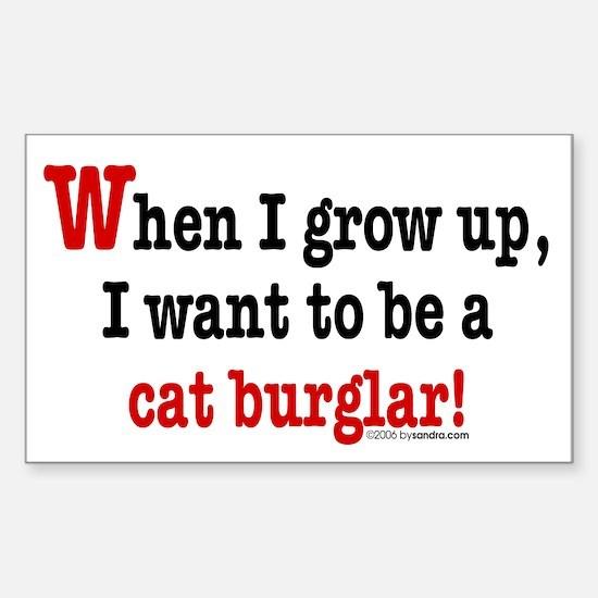 ... a cat burglar Rectangle Decal