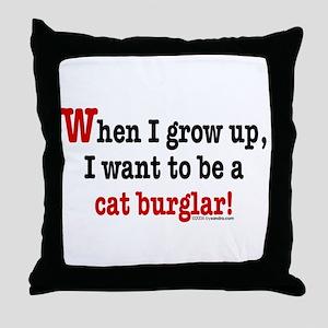 ... a cat burglar Throw Pillow