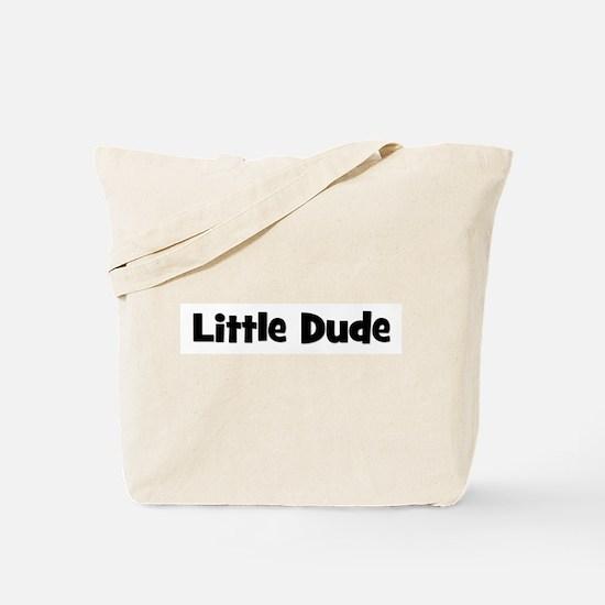 Little Dude - Black Tote Bag
