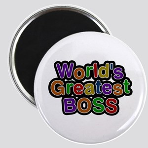 World's Greatest BOSS Round Magnet