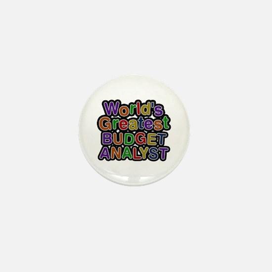 World's Greatest BUDGET ANALYST Mini Button