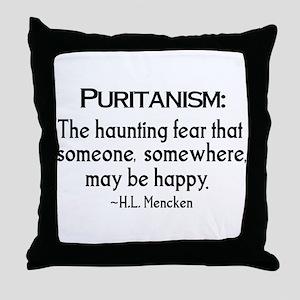 Puritanism Throw Pillow