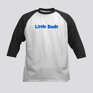 Little Dude - Blue Kids Baseball Jersey