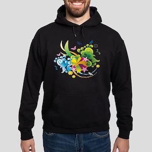Summer Flower Power Hoodie (dark)