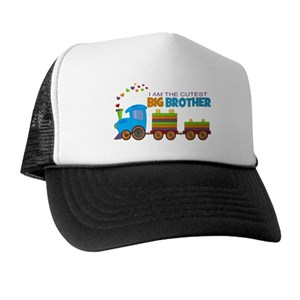 6708e975843 Big Brother Train Trucker Hats - CafePress