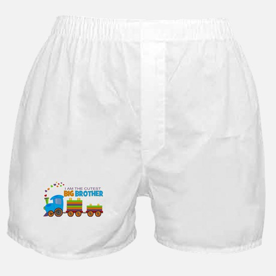 I am the Cutest Big Brother - Train Boxer Shorts