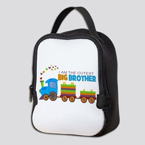 I am the Cutest Big Brother - Train Neoprene Lunch
