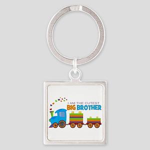 I am the Cutest Big Brother - Train Keychains