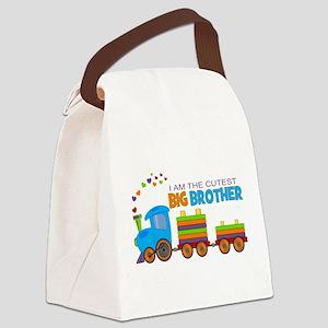 I am the Cutest Big Brother - Train Canvas Lunch B