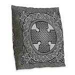 Celtic Cross Burlap Throw Pillow