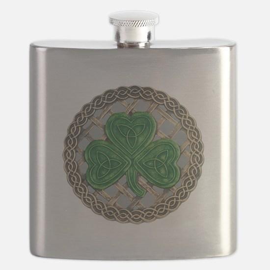 Shamrock And Celtic Knots Flask